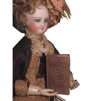 """CHARMING Tiny Hard to Find Antique Miniature """"Dew Drops"""" Book for FASHION DOLLS!"""