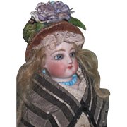 "ENCHANTING All Original Petite Size 11"" Antique F.G; Fashion Doll~MESMERIZING Eyes!"