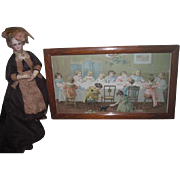 "RARE Antique Circa 1903 Maud Humphrey ""Miss Moffet's Christmas Party"" Lithograph Print with DOLLS & TOYS!"