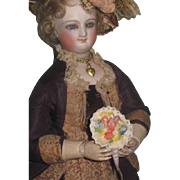 1 of 3!~SWEET Vintage Miniature Hand Painted Shell Art Floral Bouquet for Fashion Dolls