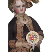 SWEET Vintage Miniature Hand Painted Shell Art Floral Bouquet for Fashion Dolls~2 of 3!