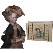 CHARMING Antique Child's Miniature Sewing Box with Contents for DOLL DISPLAY!
