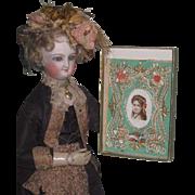 ELABORATE Antique Miniature Valentine Card for your ANTIQUE DOLL!