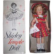 "SALE! MIB Vintage Ideal Toy Company 12"" Vinyl Shirley Temple Doll in RARE Outfit with Accessories!"