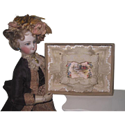 2 of 2~SWEET Antique Miniature Victorian Valentine in Original Box for Your DOLL!