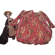 CHARMING Shabby Chic Vintage Rose Floral Large Drawstring Bag!