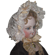 SALE! Magnificent Antique French Fashion Doll Ribbon & Lace Morning Bonnet!