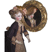 FANCY Hand Carved Miniature Gilded Wooden Mirror for Your FASHION DOLL!