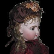 Sale! MAGNIFICENT Authentic Antique French Couture Fashion Straw Doll Bonnet!