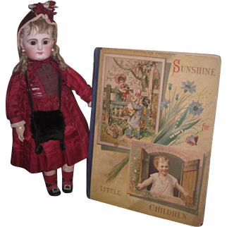 "GORGEOUS Circa 1883 Ilustrated ""Sunshine for Little Children"" Deluxe Book for DOLL ROOM!"