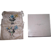SWEET Set Of Miniature Antique Hand Beaded Silk Purses in Original Box with Provenance!