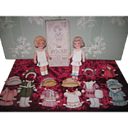 "CHARMING Antique ""My Dolly"" Boxed Paper Doll Set with Wardrobe and Provenance!"