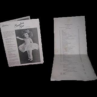 RARE Vintage Original Richwood Toys Company Sandra Sue Doll Catalog & Price List!