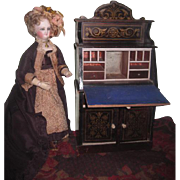 SALE!  VERY RARE Magnificent Grand Scale Antique Waltershausen Biedermeier Miniature Drop Front Secretary Desk!