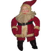 "IMPRESSIVE Large 22"" Early Vintage Santa Doll in Red Velvet!"