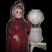 FANCY Gorgeous Antique Miniature Porcelain GWTW Oil Lamp for DOLL DISPLAY!