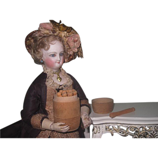 UNIQUE Novelty Antique Miniature Wooden Barrel Container With Original Doll's Clothespins!