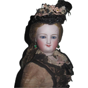 "SPECTACULAR All Original Deluxe 15"" Antique Bru Smiler Fashion Doll!"