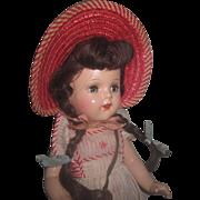 "ADORABLE HTF Vintage Factory Original 15"" Arranbee Nancy ""School Girl"" Composition Doll!"