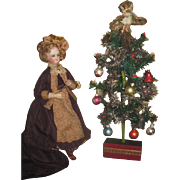 ENCHANTING Vintage Miniature Decorated Feather Tree for FASHION DOLLS!