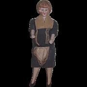 FACTORY ORIGINAL Antique German Bisque Head Housekeeper Dollhouse Doll!