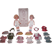 "New Year's SPECIAL SALE~Charming Antique ""My Dolly"" Boxed Paper Doll Set with Wardrobe and Provenance!"