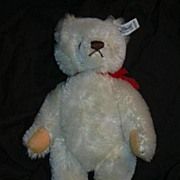 Steiff White Teddy Bear Vintage Western Germany