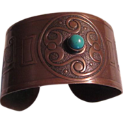 Old Copper Bracelet Unusual Designs