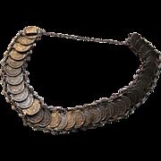 Old Sterling Silver Coin Bracelet