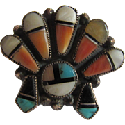 Native American Zuni Ring Size 6.25