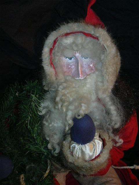 Hand Crafted Santa Claus  Doll Southern Artist  Christmas Americana