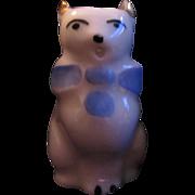 Old Cat Figurine Miniature Pitcher Fine Ceramic Kitten