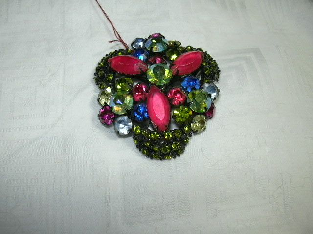 Wild Colored Rhinestone Brooch
