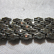 French Paste Faux Diamonds Germany Patent  Bracelet Rare Fine Jewelry