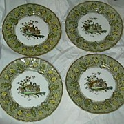 Set 4 Royal Doulton Bursley Dinner Plates Rabbits D1319 Pattern