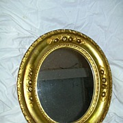 Old Borghese Gold Gilt Framed Oval Mirror