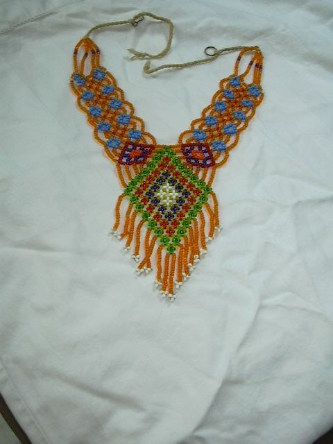 Old Hand Woven  Beaded Ethnic Necklace