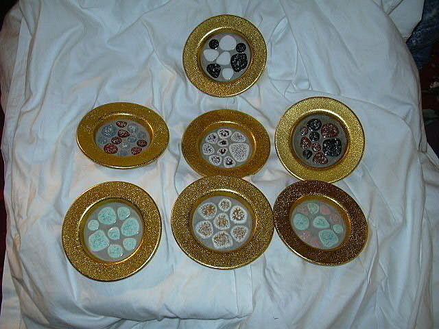 Vintage Gold Aluminum & Mosaic Coasters Styson Barware & Dining