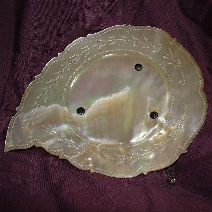 MOP Mother Of Pearl Footed Dish 1800's