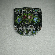 Old Beaded Bag Beadwork Beading Piece