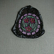 Old Beaded Bag Beadwork Weaving Embroidery