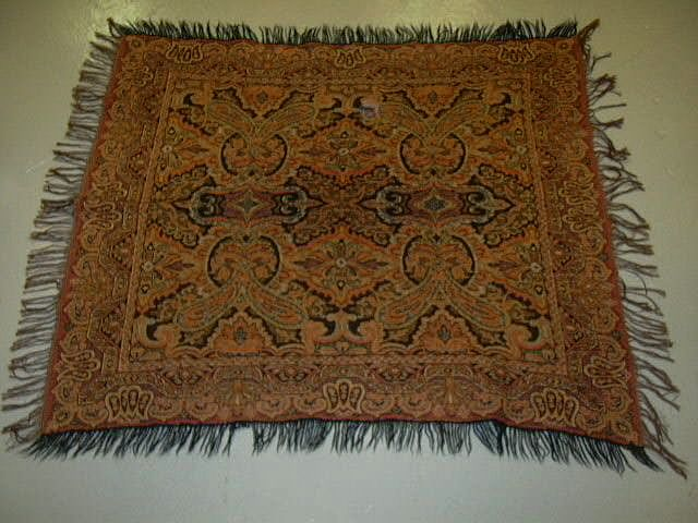 Antique Paisley Throw  Weaving Fine Textile