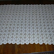 Hand Crochet Tablecloth 1800's
