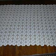 Hand Crochet Tablecloth 1800's