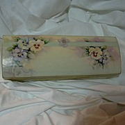 Box With Pansy Flower Art Signed Flowers