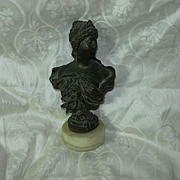 Lady Bust Statue On Marble