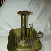 Old Brass Candle Stand