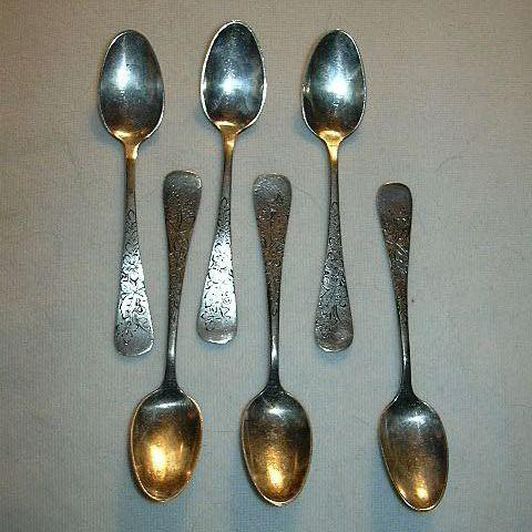 Set 6 1880 Pairpoint Mfg. Co Demitasse Spoons Fine Silverplate