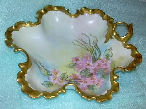 Hand Painted Flowers  MonBijou  Bavaria Bowl Ida Mae Cross