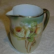 Rare Hand Painted Small Pitcher Or  Creamer Royal Bavaria  Fine Dining